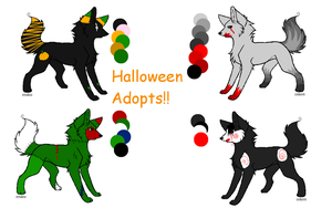 Halloween Wolves Batch 1 by Prettyxmouse