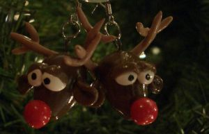Reindeearrings by estranged-illusions
