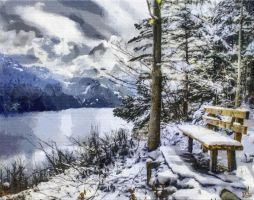 Snowy Bench by DonsDigitalCreations