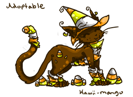 adoptable candy corn cat CLOSE by iceiline