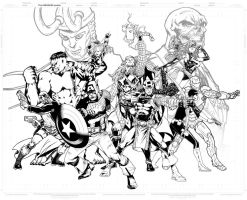 Avengers ComicVerse Assembling by SpiderGuile