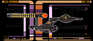 USS Enterprise NCC 1701 - MDS by Azeem786