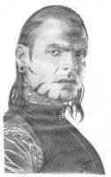 TNA Jeff Hardy Pencil Drawing by Chirantha