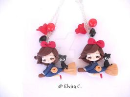 new Kiki's delivery service necklace by elvira-creations