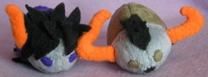 Gamzee and Tavros Grub Plush by AmberTDD