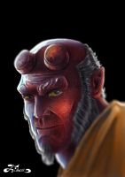 Hellboy by fixart