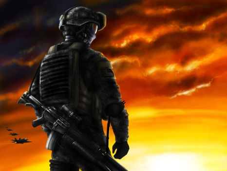 US Military Soldier by jose144