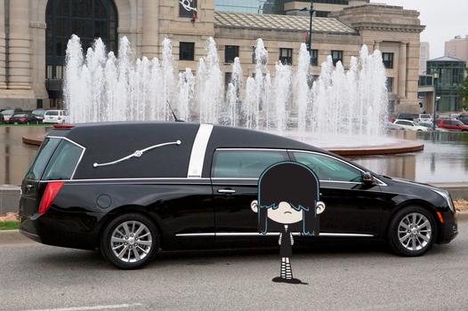Lucy Loud's future car: Cadillac Hearse by theawesomeguy98201