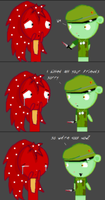 Flippy and Flaky have a chat by SUPER-WONDERFUL