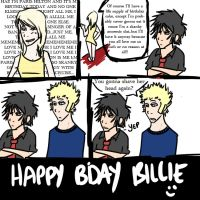 Billie vs Paris BIRTHDAY by GreenDay-Toons