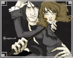 Snape and Granger untitled by usagistu