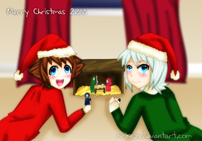 Sora and Riku - Christmas by Ririkaze