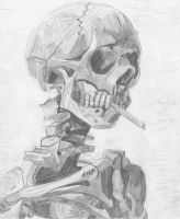 Van Gogh's Smoking Skull by impish-midna