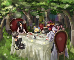 The Mad Tea Party by Sangcoon