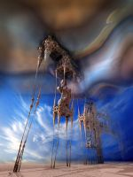 Temptation of the Fractalic Mystical Daliphants by MANDELWERK