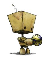 Bot with Ball by Plognark