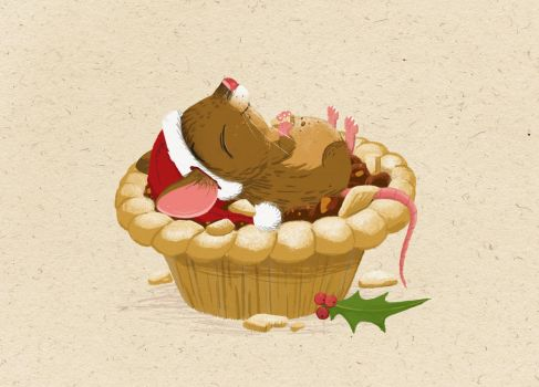 Matchstick Mouse - Mince Pies by morganobrienart