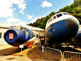 Brooklands - retired aircraft by PhilsPictures