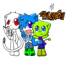 My 3  original characters by 00freeze00