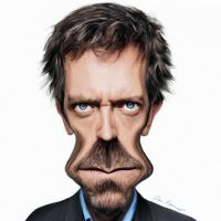 Hugh Laurie by deanreevesii