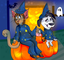 Trick or treat a distancia OwO by dauza