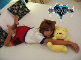 KH Chibi-Sora with Baby Pooh by amayaren