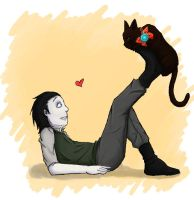 Kid!Loki and Little Tony kitty by ThisTeaIsTooSweet