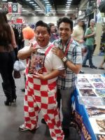 With Actor and comic book writer Alexis Cruz by creativesnatcher69