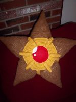 Staryu Crochet Pillow (front view) by TheEmeraldStitch