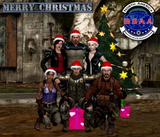 Merry Xmas 2015 By BSAA by Leon5cottKennedy