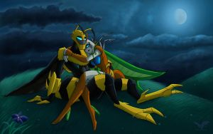 Jadebutterfly and Bumblebee by JazzTheTiger