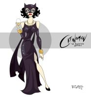 Catwoman: The Animated Series Masquerade Ball by rickytherockstar