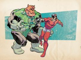 K is for Kilowog and Klaw by sdowner