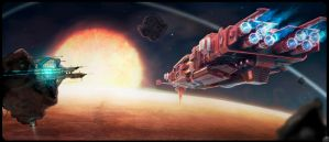 M.C.D_26 near red planet by spidermc