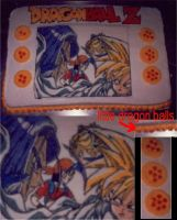 Dragon Ball Z Cake by Saiyan-Silk