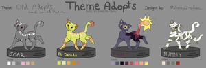 Old Cat Adopts - closed by Nahemii-chan