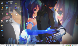 Kaito x Miku Wedding I Love You Desktop by PharaohAtisLioness