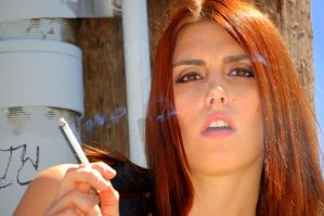 Kirstin Smoking 5 by StormbringerPhoto