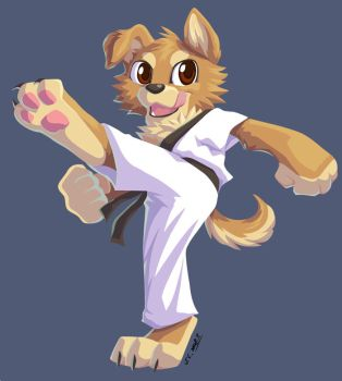 KungFu dog by J-C