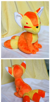 Candy Corn Kitsune by FollyLolly