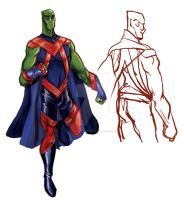 Martian Manhunter Redesign by mannycartoon