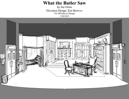 Scene Design Perspective What the Butler Saw by EMI-E-M-I