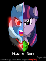 Magical Duel Twilight VS Trixie by Stepany1234