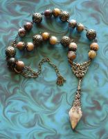 Agate Drop Necklace by cjgrand