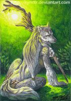 ACEO- CrescentMoon by Kyndir