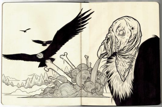 Plague of Buzzards - Moleskine by scumbugg