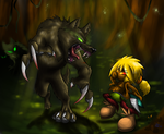 The Forest Battle! +Plus Speedpaint+ by FayeleneFyre