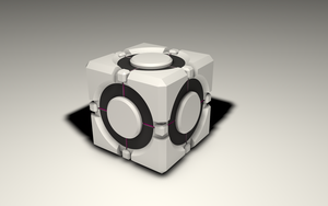 Weighted storage cube from Portal 2 by dj1001