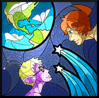 Space School Stained Glass by fokkusu1991