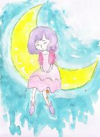 Girl On The Moon by garinging